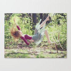 This skirt was made for falling Canvas Print