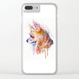 Watercolor Chihuahua Clear iPhone Case