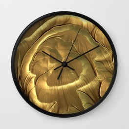 Meditations - Gold Plains Wall Clock