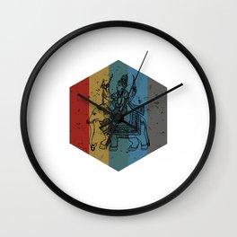 Lord Ganesh Retro Hexagon Art Wall Clock