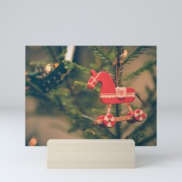 decor hanged on christmas tree Mini Art Print