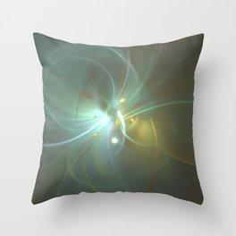 Holiday Glow Fractal Throw Pillow