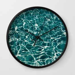 SEA - blue , white ocean , waves , clear , clarity Wall Clock
