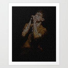 Ian Curtis : Unknown Pleasures Art Print