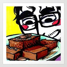 Almond Brownies Art Print