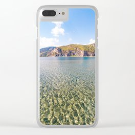 Tourquoise water natural pool sea canvas poster of sea tindari sicily Clear iPhone Case
