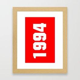 1994  justin bieber's date of birth (red) Framed Art Print