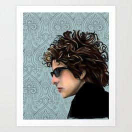 Bob Dylan Portrait Art Print