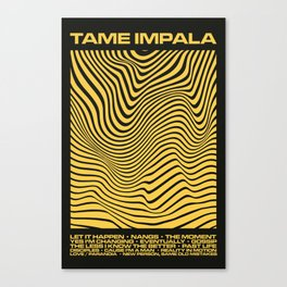 Tame Impala Currents Design Canvas Print