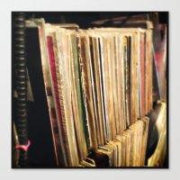 vinyl Canvas Prints featuring Vinyl by strentse
