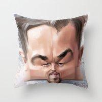leonardo dicaprio Throw Pillows featuring Leonardo Dicaprio by Alexander Novoseltsev