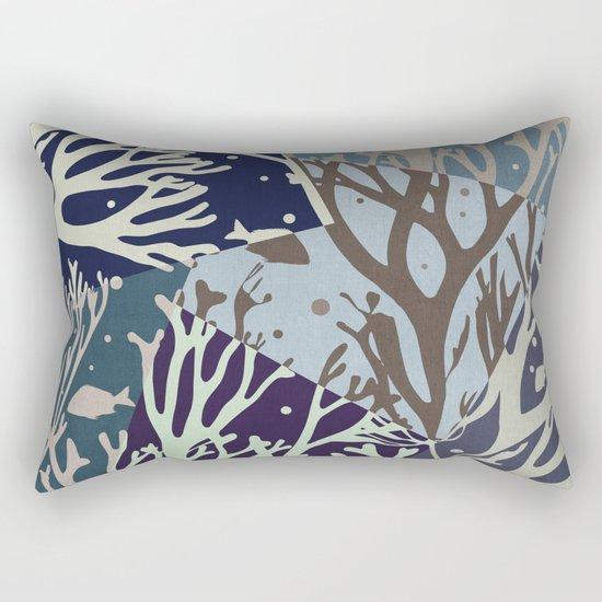 Under the Sea - Abstract Rectangular Pillow