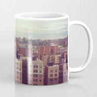 manhattan Mugs featuring Manhattan by Adrianna Grężak