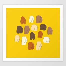 Beautiful Butts Art Print
