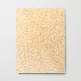 Spacey Melange - White and Pastel Orange Metal Print