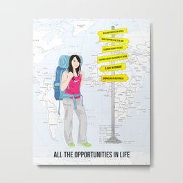 All the opportunities in life. By Priscilla Li Metal Print