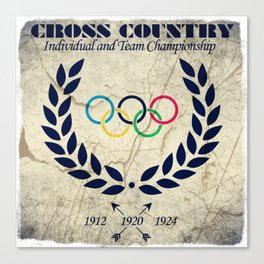 Cross Country - Olympic Vintage Canvas Print