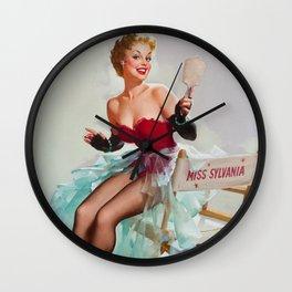 Miss Sylvania Pin-Up Girl Wall Clock