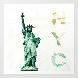 NYC - lady liberty Art Print