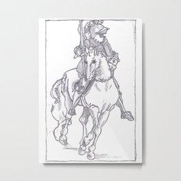 German Horse and Rider Metal Print