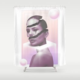 Unseen Sunset Shower Curtain