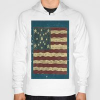 american flag Hoodies featuring American Flag by Argi Univrs