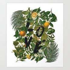 True Love (Oranges) Art Print