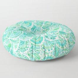 VENUS DE MER Aqua Mermaid Scales Floor Pillow