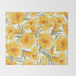 the daylily Throw Blanket
