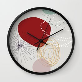 modern abstract VI Wall Clock