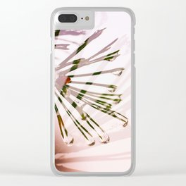 Frosty pink dream Clear iPhone Case