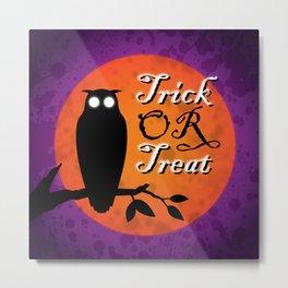 HALLOWEEN | OWL Metal Print