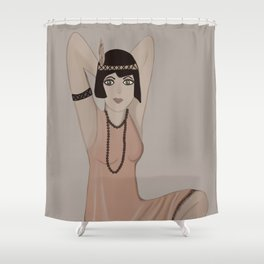 Lady Vintage  Shower Curtain