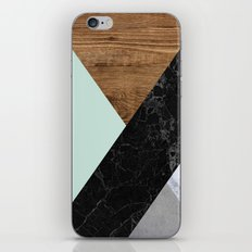 Mint Marble Wood iPhone & iPod Skin
