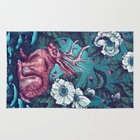 jack nicholson Area & Throw Rugs featuring Jack by Angela Rizza