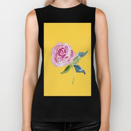Watercolor Rose Biker Tank