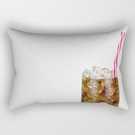 Fizzy Drink With Ice Against a White Background Rectangular Pillow