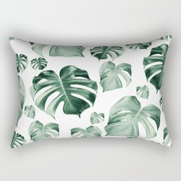 Tropical Monstera Pattern #2 #tropical #decor #art #society6 Rectangular Pillow
