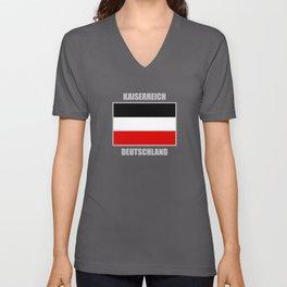 Flag Of German Empire Germany Unisex V-Neck