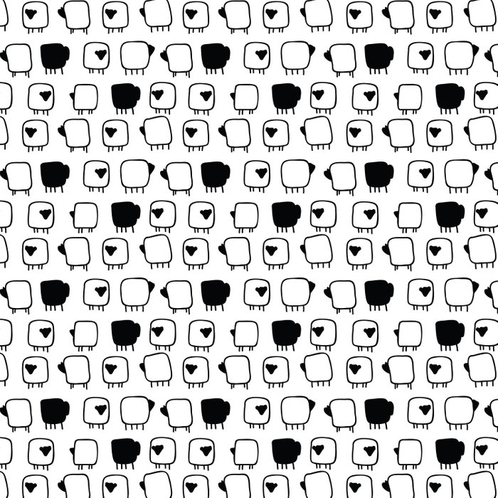 Black and white sheeps Comforters