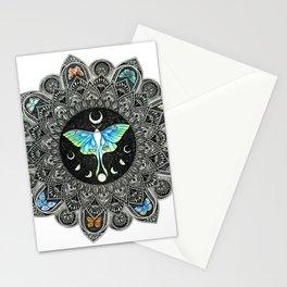 Lunar Moth Mandala Stationery Cards