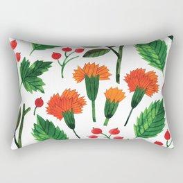 Botanic Watercolor Collection #18 - clove Rectangular Pillow