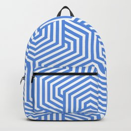 United Nations blue - turquoise - Minimal Vector Seamless Pattern Backpack