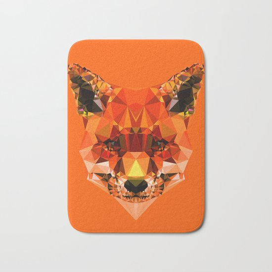 Geometric Fox Bath Mat