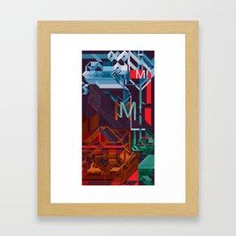 M! Framed Art Print