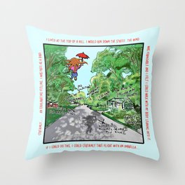 When Girls Fly Throw Pillow