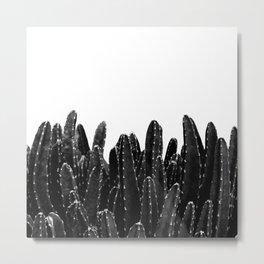 Black Cacti Dream #1 #minimal #decor #art #society6 Metal Print