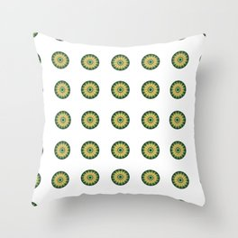 circulos vectoriales con flores Throw Pillow