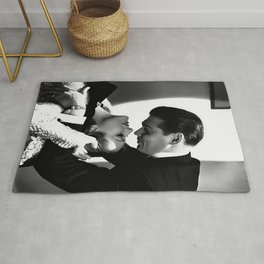 Clark Gable Romantic Retro Vintage Art Rug
