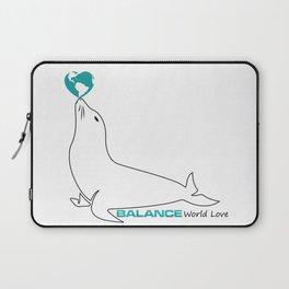 Turqoise Heart Laptop Sleeve